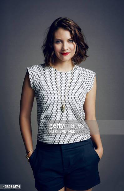 Lauren Cohan poses for a portrait at the Getty Images Portrait Studio powered by Samsung Galaxy at ComicCon International 2014 on July 24 2014 in San...