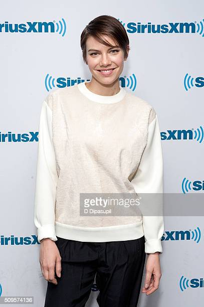 Lauren Cohan visits SiriusXM Studios on February 11 2016 in New York City