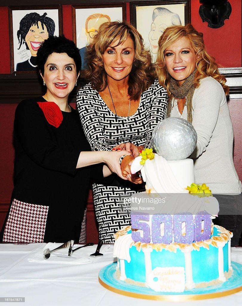 Lauren Cohn, Judy McLane, and Felicia Finley attend the 5,000 performance celebration of 'Mamma Mia!' on Broadwayat Sardi's on November 9, 2013 in New York City.