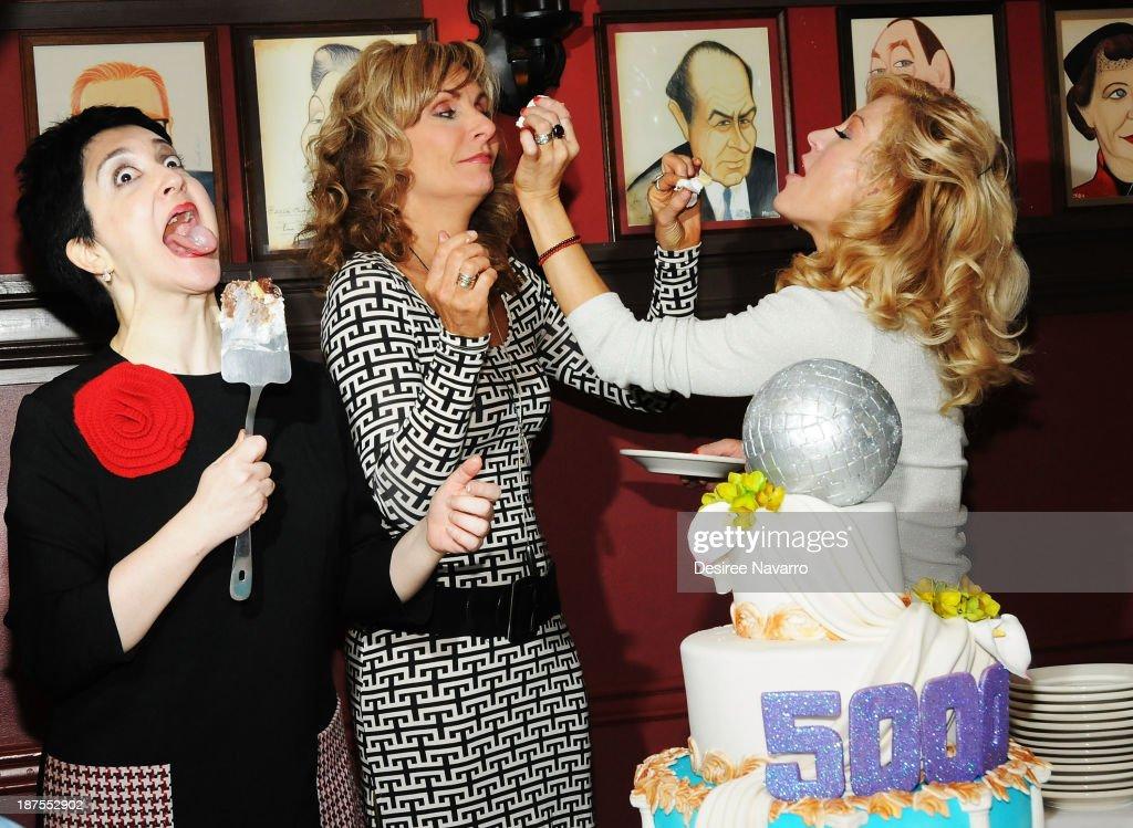 Lauren Cohn, Judy McLane and Felicia Finley attend the 5,000 performance celebration of 'Mamma Mia!' on Broadwayat Sardi's on November 9, 2013 in New York City.