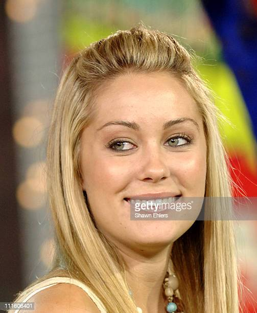 Lauren Conrad AKA LC from 'Laguna Beach' during Reese Witherspoon and LC from 'Laguna Beach' Visit MTV's 'TRL' September 14 2005 at MTV Studio in New...