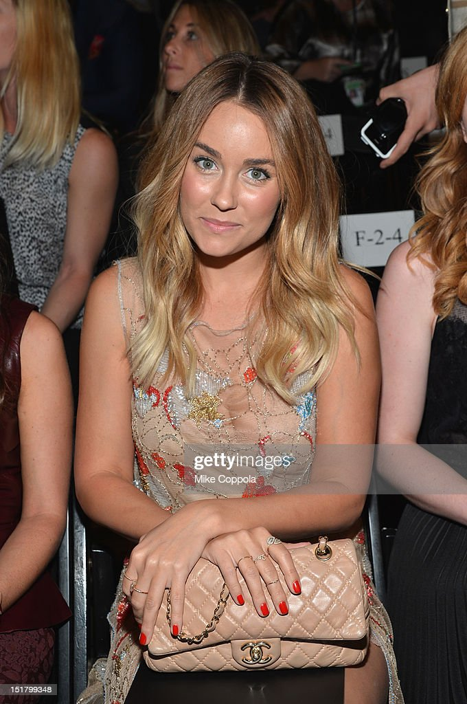 <a gi-track='captionPersonalityLinkClicked' href=/galleries/search?phrase=Lauren+Conrad&family=editorial&specificpeople=537620 ng-click='$event.stopPropagation()'>Lauren Conrad</a> attends the Jenny Packham Runway Show during the Spring 2013 Mercedes-Benz Fashion Week at The Studio Lincoln Center on September 11, 2012 in New York City.
