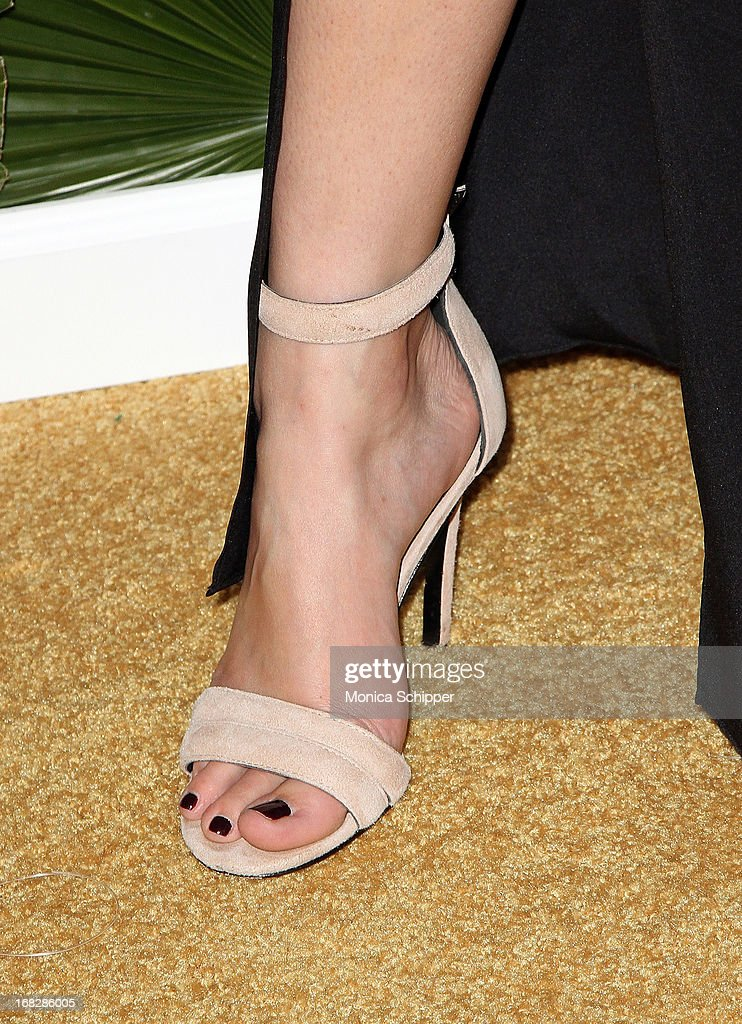 <a gi-track='captionPersonalityLinkClicked' href=/galleries/search?phrase=Lauren+Conrad&family=editorial&specificpeople=537620 ng-click='$event.stopPropagation()'>Lauren Conrad</a> (shoe detail) attends the Malibu Island Spiced Launch Party at PH-D Rooftop Lounge at Dream Downtown on May 7, 2013 in New York City.
