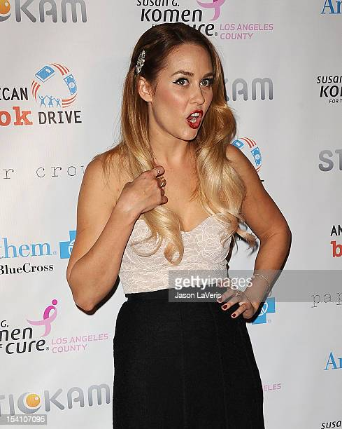 Lauren Conrad attends the Susan G Komen 'Designs for the Cure' gala at Millennium Biltmore Hotel on October 13 2012 in Los Angeles California
