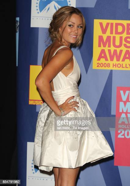 Lauren Conrad backstage at the MTV Video Music Awards 2008 at Paramount Studios Hollywood Los Angeles California