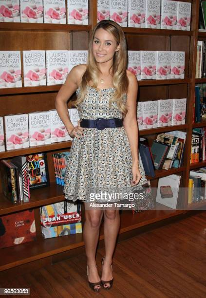 Lauren Conrad greets fans and signs copies of her book ''Sweet Little Lies An LA Candy Novel'' at Books and Books on February 10 2010 in Coral Gables...