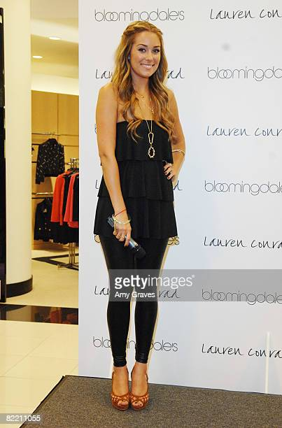 Lauren Conrad presents her Fall 2008 Collection at Bloomingdales on August 7 2008 in Los Angeles California