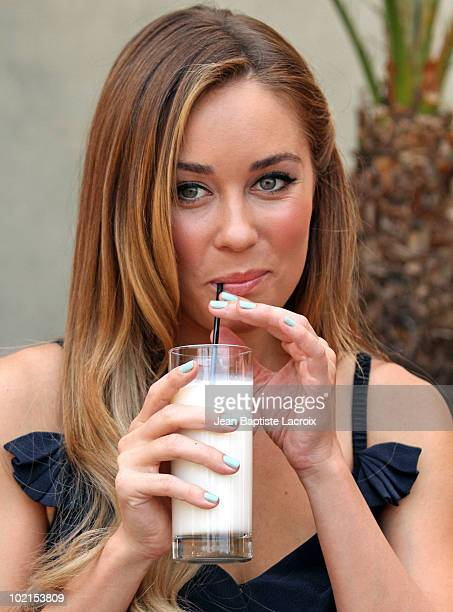 Lauren Conrad unveils a new national Milk Mustache 'Got Milk' campaign at The Whisper Lounge on June 15 2010 in Los Angeles California