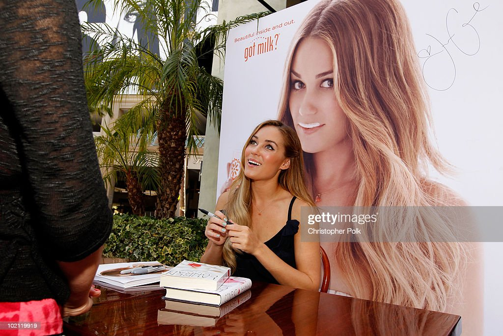 Lauren Conrad unveils her national Milk Mustache 'got milk?' ad and encourages teens to drink milk to get gorgeous from the inside out at The Grove on June 15, 2010 in Los Angeles, California. Visit Facebook.com/BodyByMilk on Friday, June 18 for more exclusive photos.
