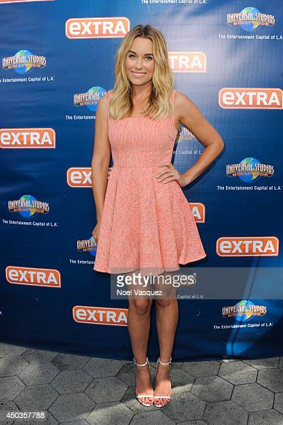 Lauren Conrad visits 'Extra' at Universal Studios Hollywood on June 9 2014 in Universal City California