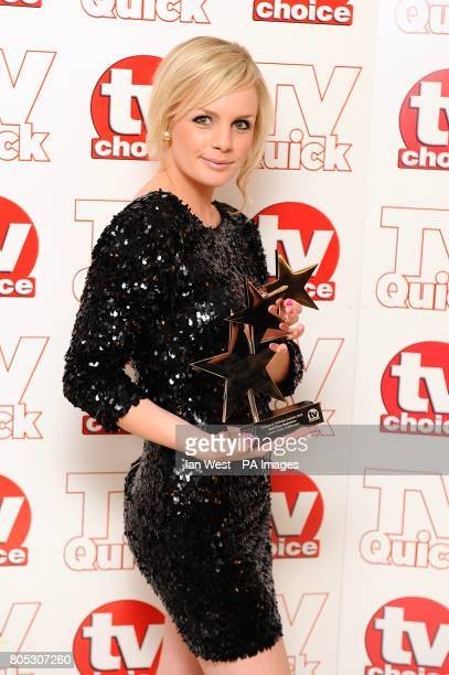 SEPTEMBER 2009 Lauren Crace with the Best Soap Newcomer award at the Dorchester Hotel Park Lane London