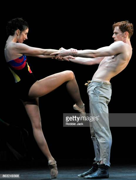 Lauren Cuthbertson and Edward Watson in the Royal Ballet's production of Kenneth MacMillan's The Judas Tree at The Royal Opera House on October 17...