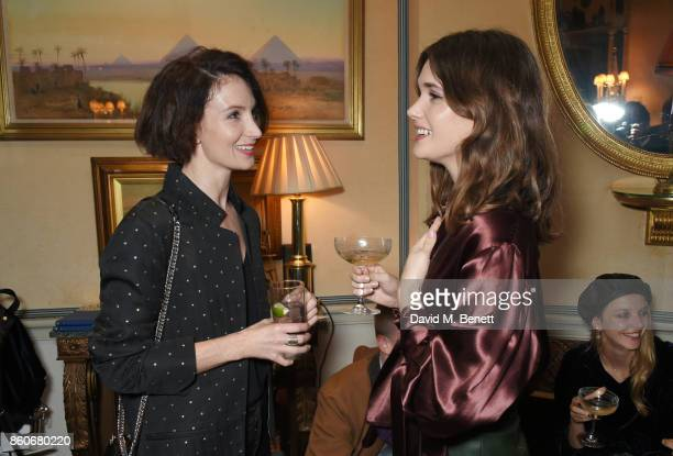 Lauren Cuthbertson and Sai Bennett attend the PORTER Lionsgate UK after party for 'Film Stars Don't Die In Liverpool' at Mark's Club on October 12...