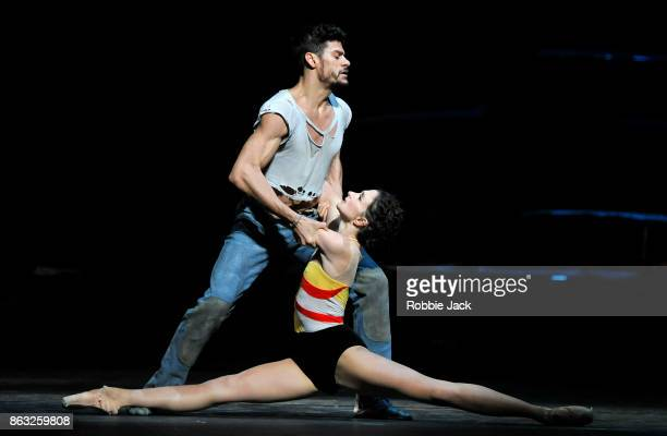 Lauren Cuthbertson and Thiago Soares in the Royal Ballet's production of Kenneth MacMillan's The Judas Tree at The Royal Opera House on October 17...