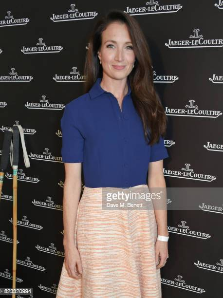 Lauren Cuthbertson attends the JaegerLeCoultre Gold Cup Polo Final at Cowdray Park on July 23 2017 in Midhurst England