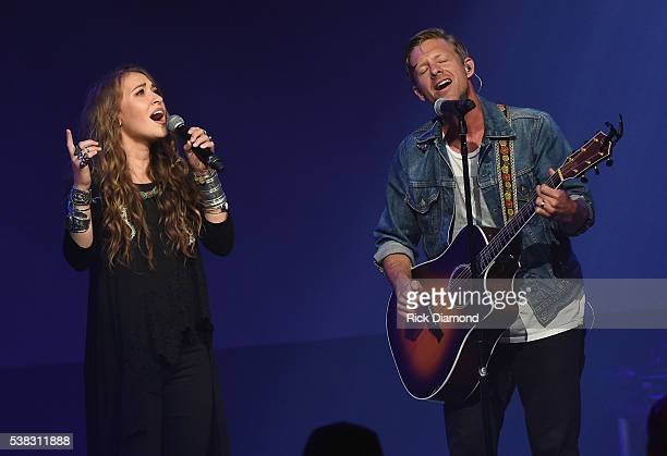 Lauren Daigle and Jon Foreman from musical band Switchfoot perform onstage at the 4th Annual KLOVE Fan Awards at Grand Ole Opry House on June 5 2016...