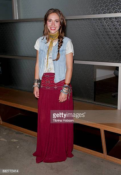 Lauren Daigle attends a special inoffice performance at Rogers Cowan on May 19 2016 in Los Angeles California