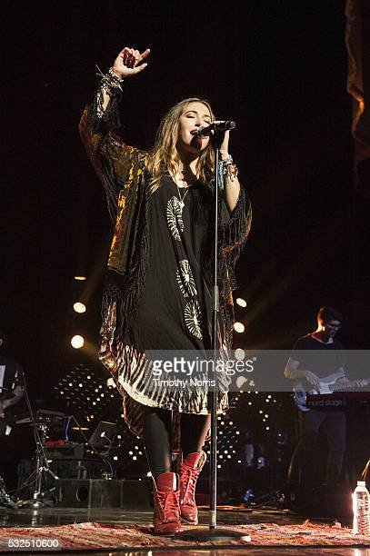 Lauren Daigle performs at The Forum on May 18 2016 in Inglewood California