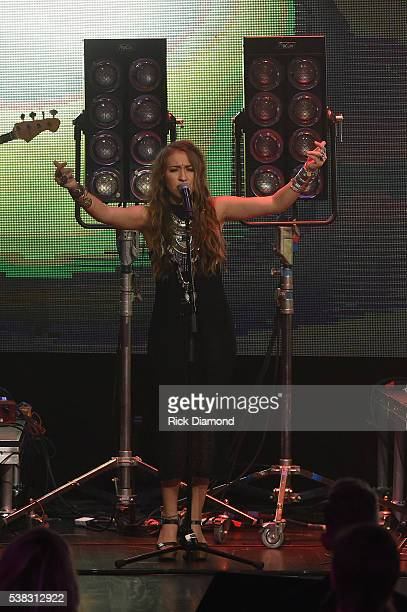 Lauren Daigle performs onstage at the 4th Annual KLOVE Fan Awards at The Grand Ole Opry House on June 5 2016 in Nashville Tennessee