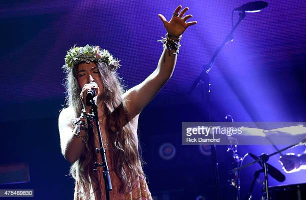 Lauren Daigle performs onstage during the 3rd Annual KLOVE Fan Awards at the Grand Ole Opry House on May 31 2015 in Nashville Tennessee