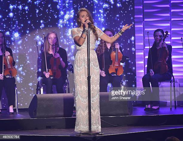 Lauren Daigle performs onstage during the 46th Annual GMA Dove Awards at Allen Arena Lipscomb University on October 13 2015 in Nashville Tennessee