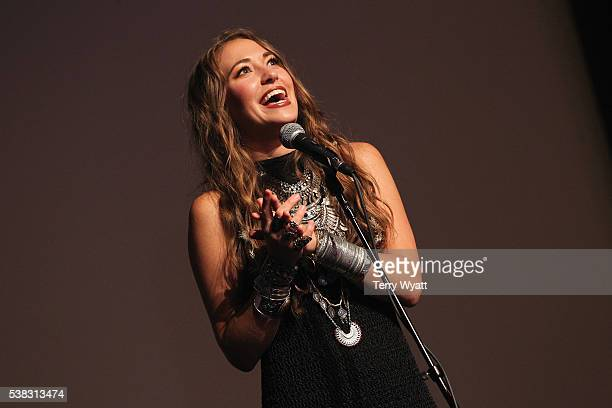 Lauren Daigle speaks in the press room at the 4th Annual KLOVE Fan Awards at The Grand Ole Opry House on June 5 2016 in Nashville Tennessee