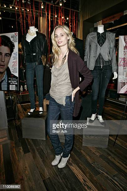 Lauren Davis wearing Levi's during Levi's Fit Event with Stacy London September 27 2006 at Levi's Fagship Store 14th Street in New York City New York...