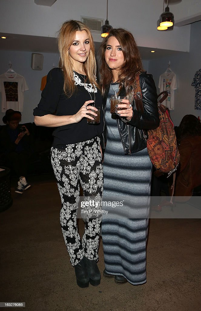 Lauren Deegan and Katie Taylor attend the Lacoste L!ve Tee Party Introducing The Artist Series Collaboration Project at Shoreditch House on March 6, 2013 in London, England.