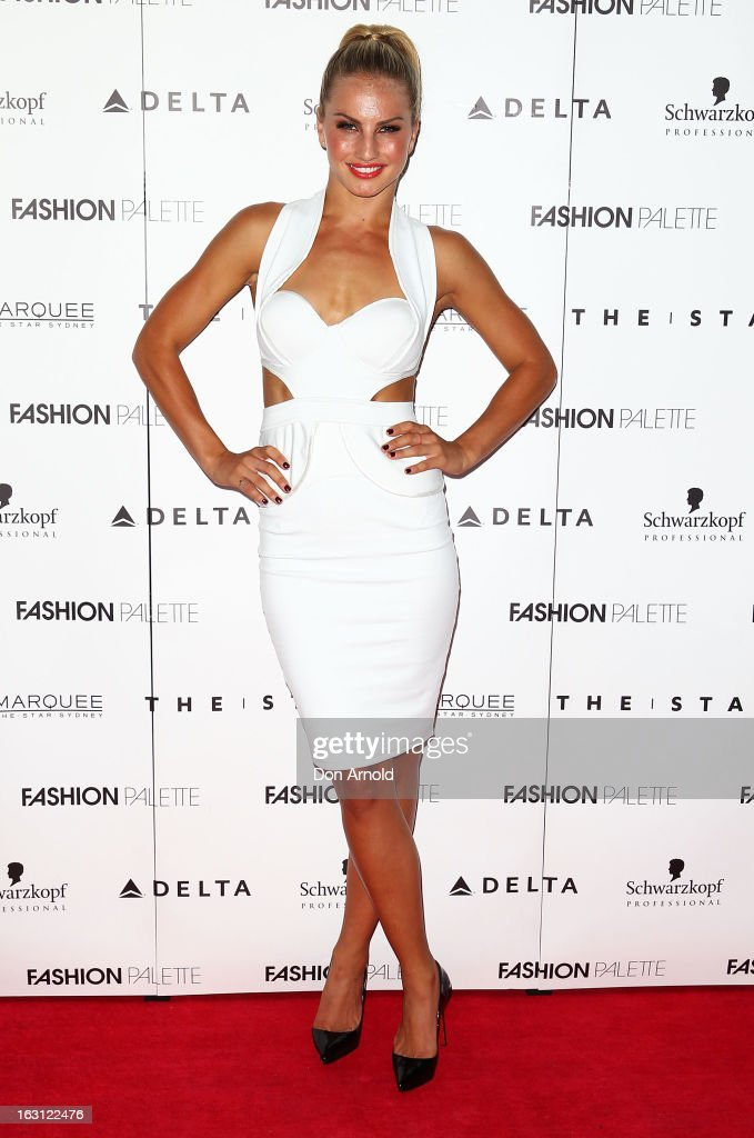 Lauren Eagle poses during the Fashion Palette VIP launch at The Star on March 5, 2013 in Sydney, Australia.