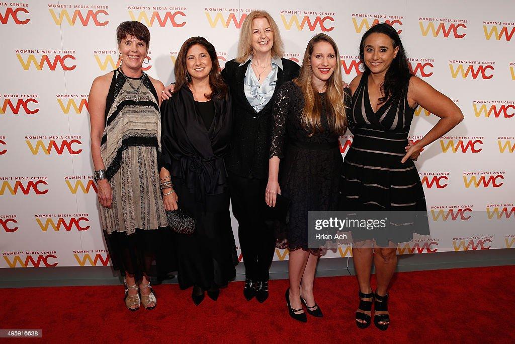 Lauren Embrey Regina Scully Julie Burton Laura Bates and Soraya Chemaly attend The Women's Media Center 2015 Women's Media Awards on November 5 2015...