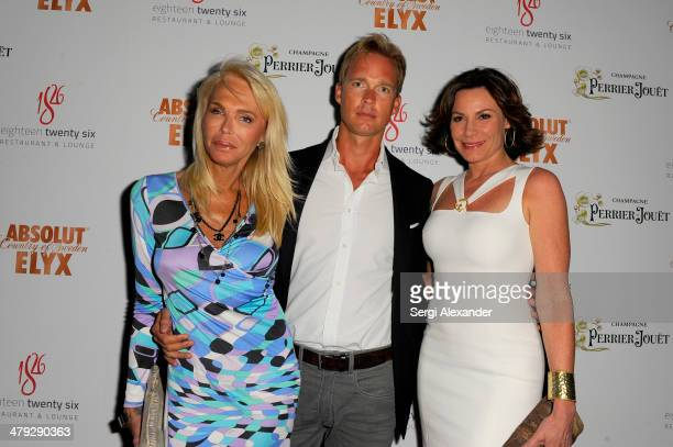 Lauren Foster Lars Christiaanse and LuAnn de Lesseps attend 1826 Restaurant Lounge Grand Opening on March 15 2014 in Miami Beach Florida