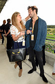 Lauren FrazerHutton and Spencer Matthews attend the Red Bull Air Race World Championships at Ascot Racecourse on August 15 2015 in Ascot England