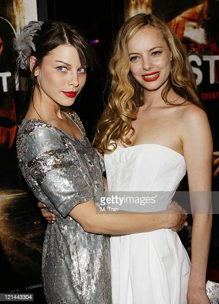 Lauren German and Bijou Phillips during 'Hostel Part II' Los Angeles Premiere Arrivals at Mann's Chinese 6 in Hollywood California United States