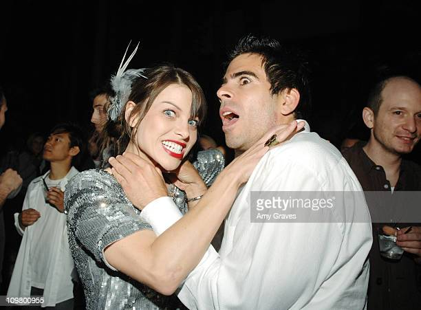 Lauren German and Eli Roth during Lionsgate Hosts Special Screening of 'Hostel Part II' After Party at The Roosevelt Hotel in Hollywood California...