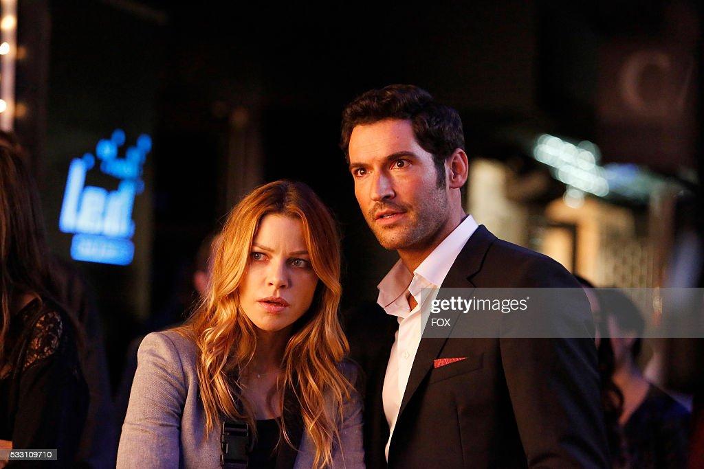 Lauren German and Tom Ellis in the Lucifer, Stay. Good Devil episode of LUCIFER airing Monday, Feb. 1 (9:00-10:00 PM ET/PT) on FOX.