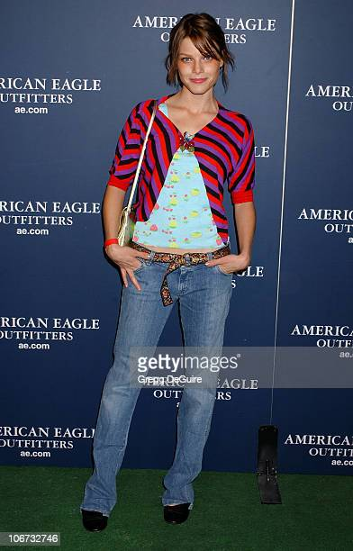 Lauren German during American Eagle Outfitters Rocks Los Angeles with a Back To School Tailgate Party Arrivals at Hollywood Lot in Hollywood...