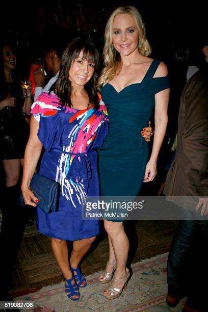 Lauren Goldberg and Carmindy attend STYLECASTER COTY and CARMINDY host a launch party for 'CRAZY BUSY BEAUTIFUL' at Norwood on March 25 2010 in New...