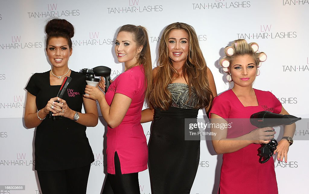 <a gi-track='captionPersonalityLinkClicked' href=/galleries/search?phrase=Lauren+Goodger&family=editorial&specificpeople=7360081 ng-click='$event.stopPropagation()'>Lauren Goodger</a> (3rd L) and her 'Essex Angels' attend the launch of 'Lauren's Way', a collection by <a gi-track='captionPersonalityLinkClicked' href=/galleries/search?phrase=Lauren+Goodger&family=editorial&specificpeople=7360081 ng-click='$event.stopPropagation()'>Lauren Goodger</a> at Jewel Bar on May 8, 2013 in London, England.