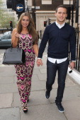 Lauren Goodger and Jake McLean are pictured visiting Dr Simon Darfoor at 1 Harley Street to have a 'his and hers smile make over' on May 10 2013 in...