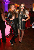 Lauren Goodger and Lydia Bright attend the Superdrug 50th Birthday celebration at One Marylebone on April 23 2014 in London England