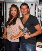 Lauren Goodger and Mark Wright promote The Only Way is Essex DVD release at Lakeside Shopping Centre on March 28 2011 in Thurrock England