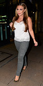 Lauren Goodger arrives at a launch of a new personal training club on October 14 2014 in London England
