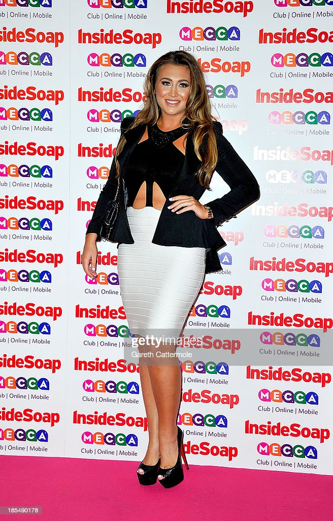 Lauren Goodger attends the Inside Soap Awards, at Ministry Of Sound on October 21, 2013 in London, England.