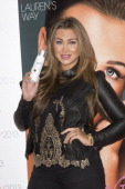 Lauren Goodger attends the Professional Beauty show and signs her products for customers at ExCel on February 25 2013 in London England