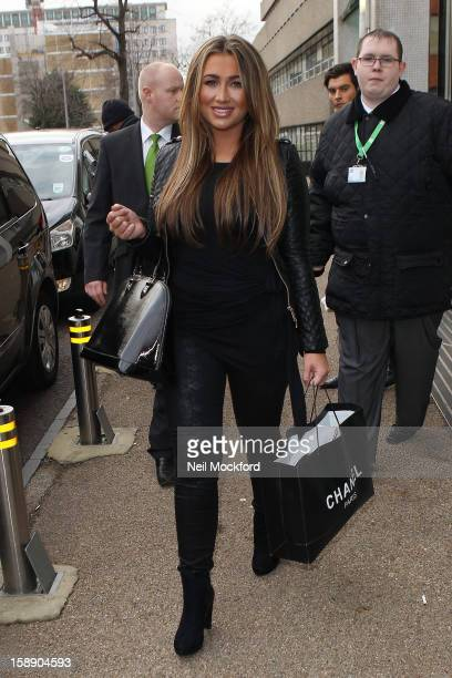 Lauren Goodger from Dancing On Ice 2013 seen at The ITV Studios on January 3 2013 in London England