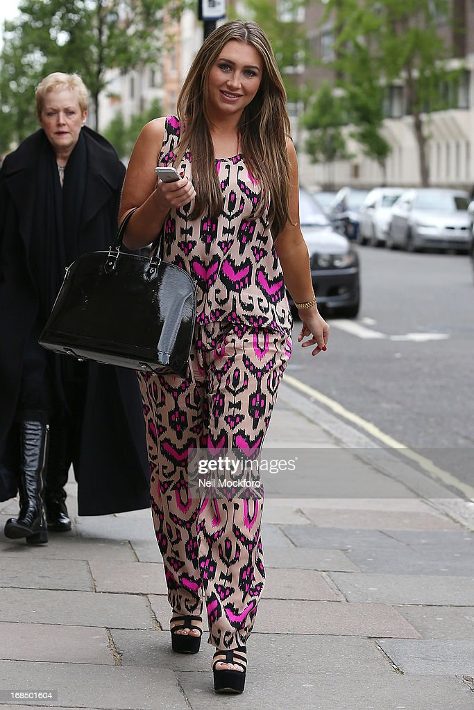 Lauren Goodger is pictured visiting Dr Simon Darfoor at 1 Harley Street, to have a 'his and hers smile make over' on May 10, 2013 in London, England.