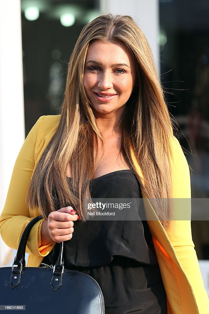 Lauren Goodger is spotted leaving the Tatiana Hair Extensions salon ahead of her 'Lauren's Way' launch tomorrow on May 7, 2013 in London, England.