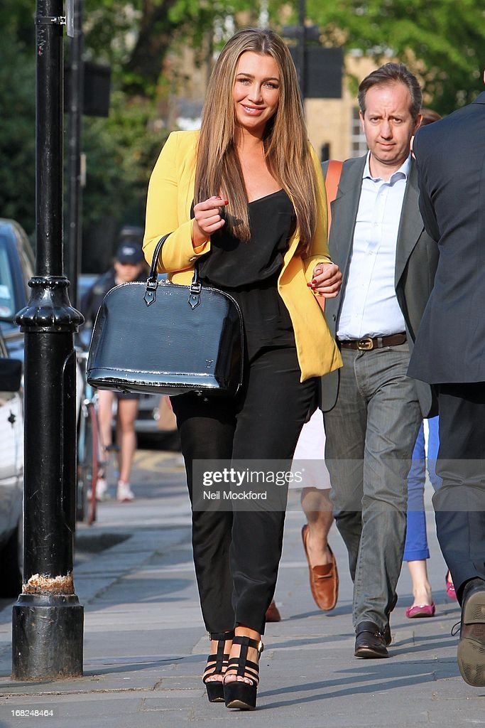 <a gi-track='captionPersonalityLinkClicked' href=/galleries/search?phrase=Lauren+Goodger&family=editorial&specificpeople=7360081 ng-click='$event.stopPropagation()'>Lauren Goodger</a> is spotted leaving the Tatiana Hair salon ahead of her 'Lauren's Way' launch tomorrow on May 7, 2013 in London, England.