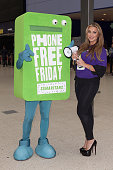 Lauren Goodger launches Samaritans' New Fundraising Day Phone Free Friday at Waterloo Station on June 16 2014 in London England