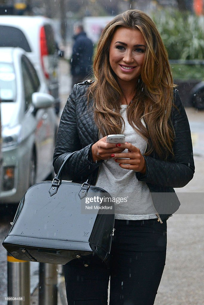 <a gi-track='captionPersonalityLinkClicked' href=/galleries/search?phrase=Lauren+Goodger&family=editorial&specificpeople=7360081 ng-click='$event.stopPropagation()'>Lauren Goodger</a> seen at the ITV Studios on January 14, 2013 in London, England.